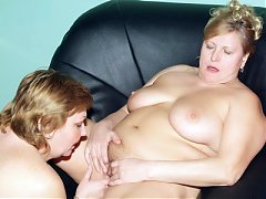 Anna and Yolanda are chunky older women playing with their breasts and eating each other out